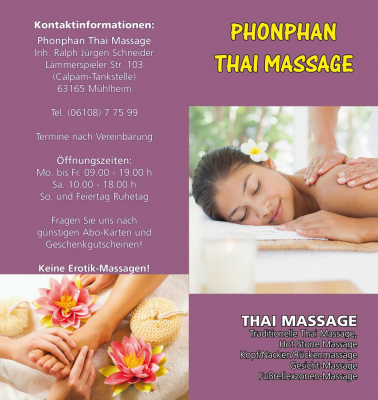 Flyer Phonpan Thaimassage