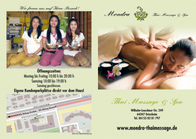 Flyer Thaimassage Mondra